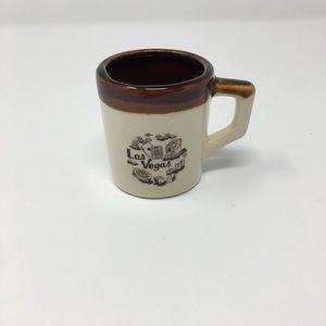 Vintage Las Vegas Ceramic Brown Espresso size Mug
